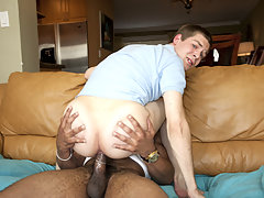 Young guy takes a huge fat cock